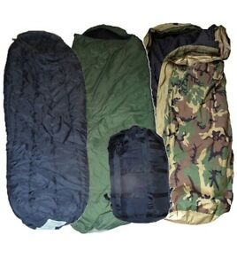 USGI Military 4 Piece Modular Sleeping Bag Sleep System MSS Cold Weather Gear