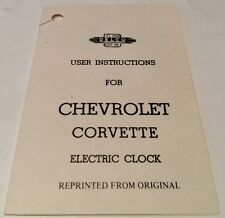 1953-1957 Corvette Electric Clock Instruction Booklet Reprint