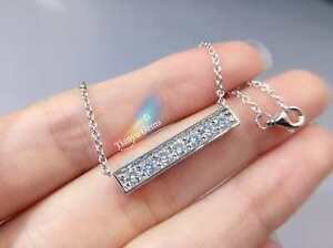 REDUCED! 14K White Gold Moissanite Necklace Pendant