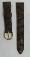 NEW SEIKO BROWN STITCHED CALF LEATHER 20mm WATCH STRAP