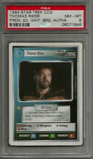 1994 Star Trek CCG Thomas Riker Prem. Ed. White Brd Alpha PSA 8 NM-MT POP 1 Card