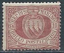 1894-99 SAN MARINO STEMMA 10 CENT MNH ** - VA6-2