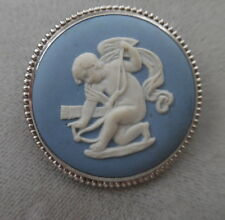 Angel Brooch Sgn. Jw England Vintage Wedgwood In Blue And White