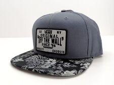 Snapback Solid 100% Cotton Flat Cap Hats for Men