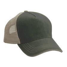 e150457f295 1 Dozen (12 )Trucker Hat Olive  Khaki Cotton Mesh Embroider Screen