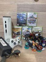 Microsoft Xbox 360 White 120GB Console Bundle Controller & Skylanders + Games