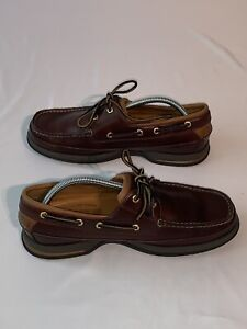 Sperry Top-sided Gold Cup Vibram Sole Brown Leather Shoes Size 10W 0219444