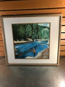 Murray Hilt Pastel Fly Fisher Artwork - 1999