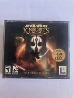 Star Wars Knights of the Old Republic II The Sith Lords PC Game COMPLETE 4 Discs