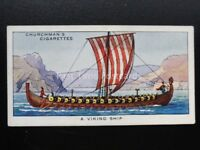 No.12 A VIKING SHIP The Story of Navigation - Churchman 1937