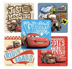 15 Disney Cars RULE THE ROAD Stickers Party Favors Lightning McQueen
