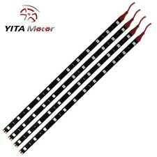YITAMOTOR 4x 30CM Red 5050 SMD 12LED Strip Light Waterproof Car Boat Decor Lamps