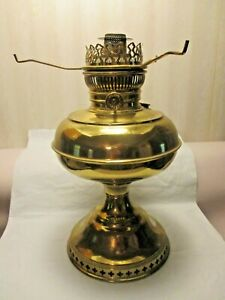 "VINTAGE~~~BRASS RAYO OIL LAMP & 10"" TRIPOD"