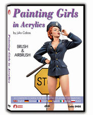 Andrea Miniatures Painting Girls in Acrylics by Julio Cabos DVD Step by step