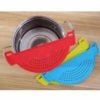 Pan Pot Drainer Strainer Filter Sieve Colander Kitchen Steel PP Casserole Hot