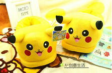 one Pair Slipper New POKEMON Pikachu Soft Plush Stuffed Xmas gift Adult Size