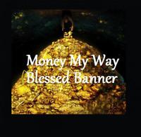 Money My Way Voodoo Banner Altar Cloth Ritual Spell Kit Success Cash