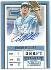 Brian Miller Miami Marlins 2017 Panini Contenders Draft Picks Autograph