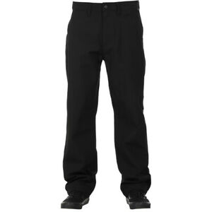 "Vans ""Authentic Chino Glide Pro"" Pants (Black) Sturdy Stretch Slim Fit Bottoms"