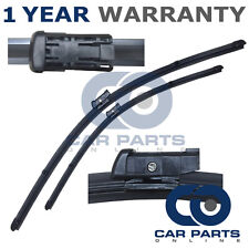 """FOR FORD FIESTA MK6 2008- DIRECT FIT FRONT AERO WINDOW WIPER BLADES PAIR 26"""" 15"""""""