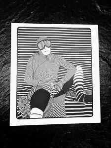 J SEELEY striking ORIGINAL abstract op art offset print photograph artist proof!