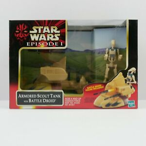 Star Wars Episode 1 The Phantom Menace EP1 Armored Scout Tank w/BattleDroid 1999