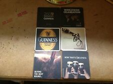 GUINNESS BEER COASTERS - 6pcs