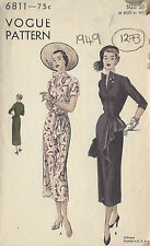 1949 Vintage VOGUE Sewing Pattern B38 DRESS (1273)