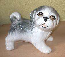 Großes trolliges Hündchen Hund Dekofigur Porzellan 16 cm TOP