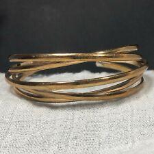Goldtone Cuff Bracelet Dimensional