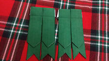 TC pour hommes flashes Chaussettes de kilt vert tartan / écossais