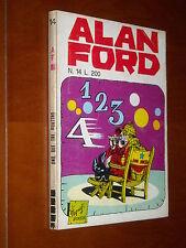 ALAN FORD n. 14 - 1 2 3 4 - ADESIVI - OTTIMO ++++ - Magnus & Bunker - 1970