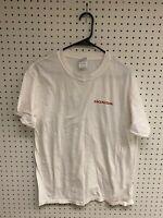 Vintage Honda White Graphic T-shirt Size L