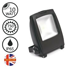 LED FLOODLIGHT 10W SECURITY OUTDOOR LIGHT IP65 COB CHIP GALVANISED BLACK FINISH