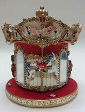 wunderschönes Jahrmarkt Karussell mit Spieluhr, Pferde, Spiegel .. rot weiß, NEU