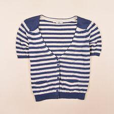 Suelo SEÑORA CARDIGAN SUÉTER Sweater talla 14 (ar 42) lino multicolor, 69998