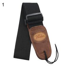 Widening Folk Adjustable Widening Acoustic Electric Guitar Bass Black Belt Strap