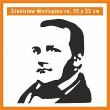 STANISLAW MONIUSZKO Wandtatoo, ca. 35 x 31 cm, Hochleistungsfolie m. Montagep.