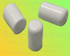 250 x Rundrohrkappe 12 mm weiß UV-stabil - Kappen für Rundrohre 11,8 bis 12,8 mm