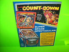 Gottlieb COUNTDOWN Original 1979 Pinball Machine Promo Flyer Space Age Artwork