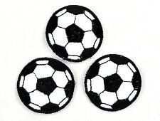 Applikation zum Aufbügeln Bügelbild - Fussball 3 St.