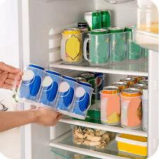 Soda Beer Can Holder Storage Kitchen Organization Fridge Rack Plastic Space.