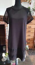 Señoras vestido o túnica negra Talla 14