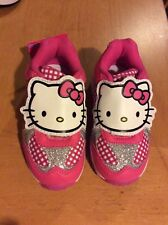 Hello Kitty filles Rose Chaussures Avec Lumières Taille UK C6, Euro 23