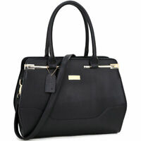Dasein Women Stylish Handbags Faux Leather Satchel Tote Shoulder Bag Purse