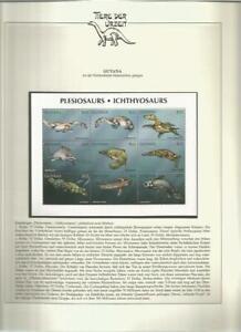81540/ Dinosaurier Fauna Tiere ** MNH OHNE VORDRUCK GUYANA