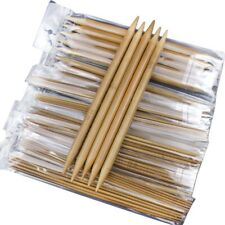 75pcs/set 15 Sizes 20cm Double Pointed Carbonized Bamboo Knitting Needles S D9W7