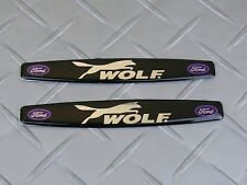 Wolf Ford Racing Auto Badge Emblem Decal Pair