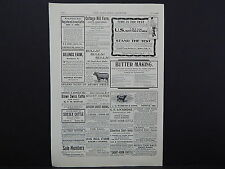 The Breeder's Gazette, Nov. 28, 1906, One Advertising Page, Double Sided #07