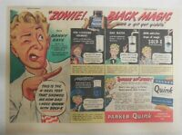 Parker Pen Ad: Quink Ink Danny Kaye Black Magic ! 1940' Size: 7.5 x 10 inches